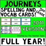 Journeys 3rd Grade Vocabulary Cards & Spelling Word Cards 2011