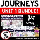 Journeys 1st Grade Unit 1 Word Work Bundle | 2014 or 2017
