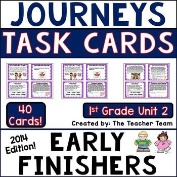 Journeys 1st Grade Unit 2 Task Cards Supplemental Materials Common Core 2014