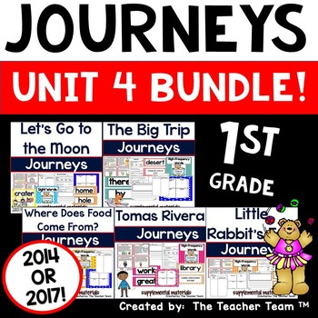 Journeys 1st Grade Unit 4 Lessons 16 through 20 Activities and Printables 2014