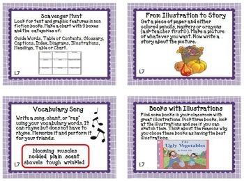 Journeys 2nd Grade Unit 2 Task Cards  Supplemental Materials Common Core 2014