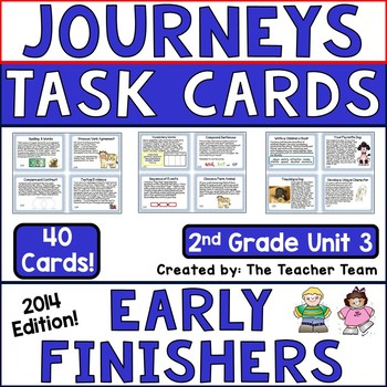 Journeys 2nd Grade Unit 3 Early Finishers Task Cards 2014