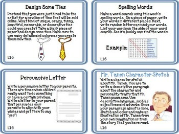Journeys 2nd Grade Unit 4 Task Cards Supplemental Materials CC 2014 or 2017