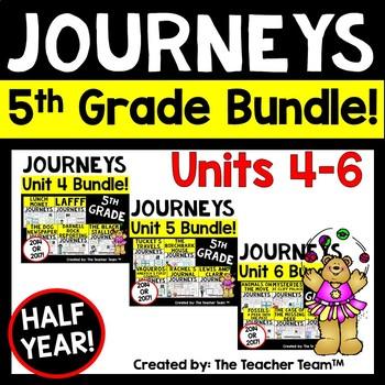 Journeys 5th Grade Unit 4-6 Half Year Bundle Supplemental Materials 2014 or 2017