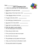 Journeys Aligned Grammar Study Guides and Tests (Grade 2)