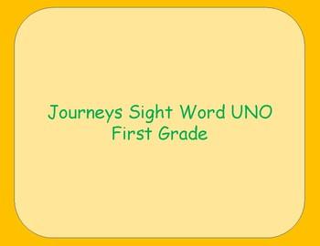 Journeys Aligned Sight Word Uno