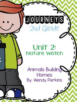 Journeys Animals Building Homes Grade 2 {Editable}