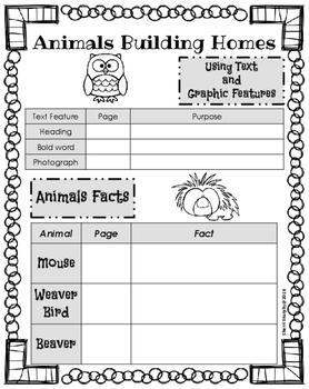 Journeys:Animals Building Homes (Unit 2, Lesson 6)