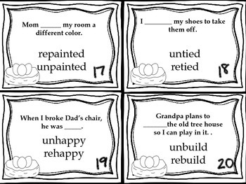 Journeys Animals Building Homes Vocabulary and Grammar Task Cards