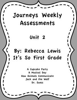 Journeys Assessments Unit 2 Bundle