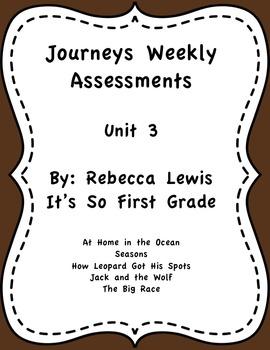 Journeys Assessments Unit 3 Bundle