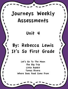 Journeys Assessments Unit 4 Bundle