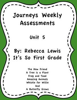 Journeys Assessments Unit 5 Bundle