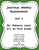 Journeys Assessments Unit 5 Bundle