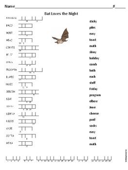 Journeys Bat Loves the Night Spelling