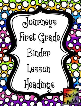 Journeys Binder Headings