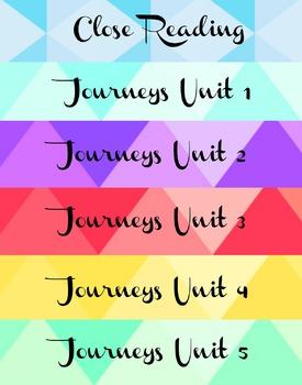 Journeys Binder Labels