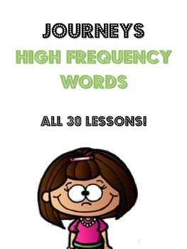 Journeys Bundle- 1st Grade- High Frequency/Spelling Words-All 30 Lessons!