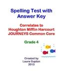 Journeys CC Unit 3 Lesson 11 Spelling Test Grade 4