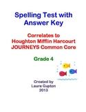 Journeys CC Unit 5 Lesson 25 Spelling Test Grade 4