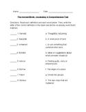 Journeys Chapter 8: Harvest Birds Vocabulary & Comprehension Test