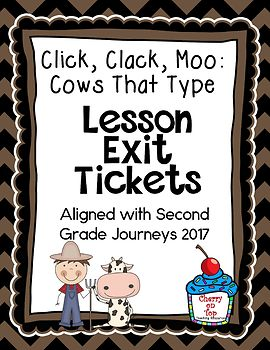 Journeys-Click, Clack, Moo: Cows That Type Exit Tickets
