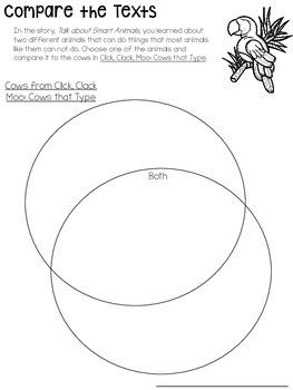 Journeys- Click, Clack, Moo: Cows That Type Supplemental Set {Unit 3: Lesson 11}