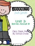 Journeys Click Clack Moo Cows that Type Grade 2 {Editable}