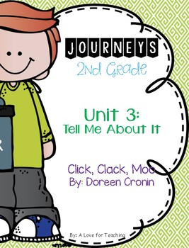 Journeys Click Clack Moo Cows that Type Grade 2 {Editable}