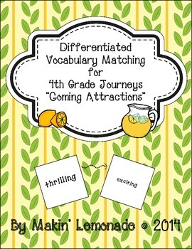 "Journeys: ""Coming Attractions"" Differentiated Vocabulary M"