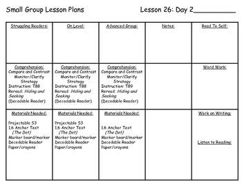 Journey's Common Core 1st Grade Small Group Lesson Plans Unit 6