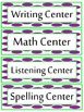 Journeys 2014 Second Grade Word Wall (Purple and Green Polka Dot)