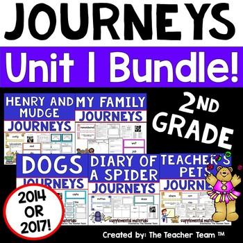 Journeys 2nd Grade Unit 1 Supplemental Activities & Printables CC 2014 or 2017