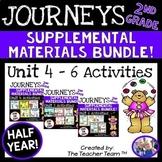 Journeys 2nd Grade Unit 4-6 Half Year Bundle Supplemental Materials 2014 or 2017