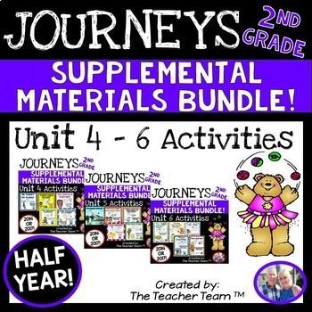 Journeys 2nd Grade Unit 4-5-6 Half Year Bundle 2014 Edition