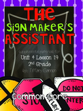 Journeys Common Core 2nd Grade Unit 4 Lesson 19 The Signmaker's Assistant