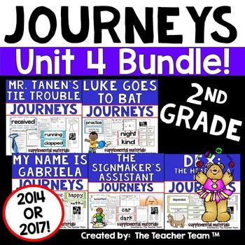 Journeys 2nd Grade Unit 4 Supplemental Activities & Printables CC  2014