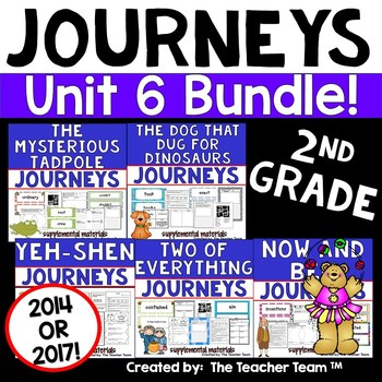 Journeys 2nd Grade Unit 6 Supplemental Activities & Printables CC 2014