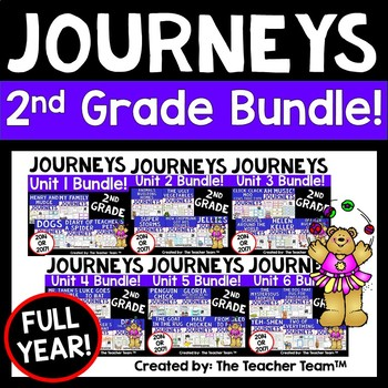 Journeys 2nd Grade Units 1-6 Full Year Supplemental Activities & Printables 2014