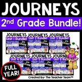 Journeys 2nd Grade Unit 1 - Unit 6  Printables Year Bundle