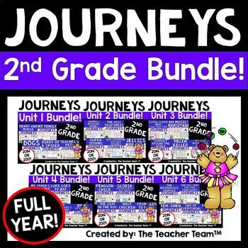 Journeys 2nd Grade Reading Language Arts Units 1-6 Full Ye