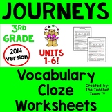 Journeys 3rd Grade CLOZE Fill in the Blanks Worksheets Full Year CC 2014 or 2017