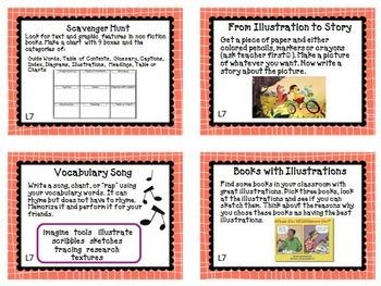 Journeys 3rd Grade Unit 2 Task Cards Supplemental Printables 2014 or 2017