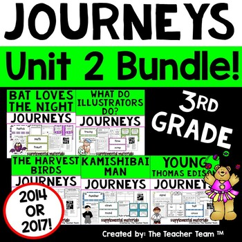 Journeys 3rd Grade Unit 2 Supplemental Activities & Printables CC 2014