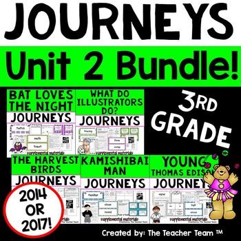 Journeys 3rd Grade Unit 2 Supplemental Activities & Printables CC 2014 or 2017