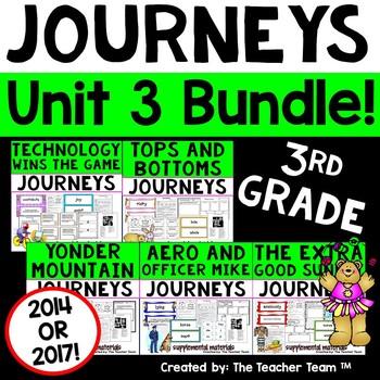 Journeys 3rd Grade Unit 3 Supplemental Activities & Printables CC 2014