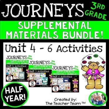 Journeys 3rd Grade Units 4-6 Half Year Supplemental Activitie & Printables 2014