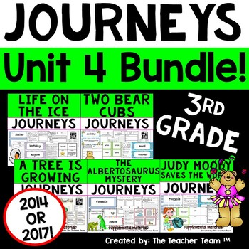 Journeys 3rd Grade Unit 4 Supplemental Activities & Printables CC  2014