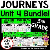 Journeys 3rd Grade Unit 4 Supplemental Activities & Printables CC 2014 or 2017