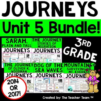 Journeys 3rd Grade Unit 5 Lessons 21 through 25 Activities & Printables